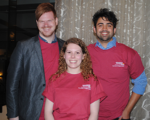 Robert Cremins,  Kirby Trovillo, and Felipe Oliveira were the 2015 recipients of the  Lusby and Hodges Award for Excellence in Undergraduate Research